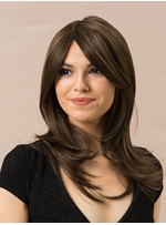 Long Layered Straight One Side Part Synthetic Hair Wig 14 Inches