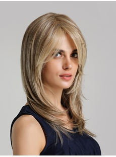 Long Layered Hairstyle Synthetic Hair Women Wig 20 Inches
