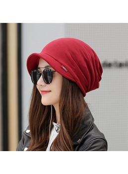 Short Brim Autumn Warm Cap