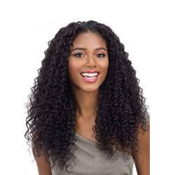 100% Virgin Human Hair Womens Kinky Curly Wigs Long Length Lace Front Wigs 22Inches