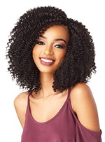 Medium Bob Hairstyles Women's Mid-Part Sexy Curly Synthetic Hair Wigs Rose Capless Wigs 16Inches