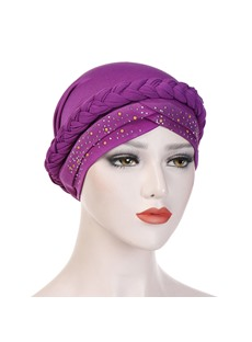 Paillette Pure Colour Turban For Women