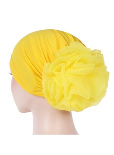 Colour Simple Flower Turban For Women