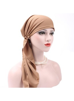 Pure Colour Plain Fashion Turban For Women