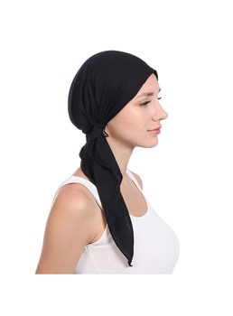 Pure Colour Plain Turban For Women