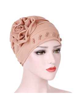 Colour Beads Fashion 2019 New Style Turban For Women
