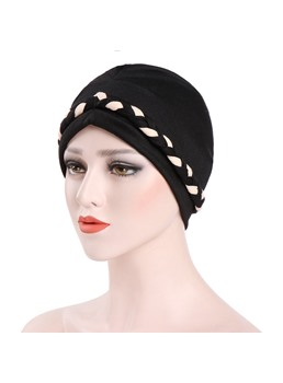 Knitted Fashion Pure Colour Turban