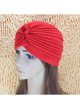 Plicated Fashion Pure Colour Turban