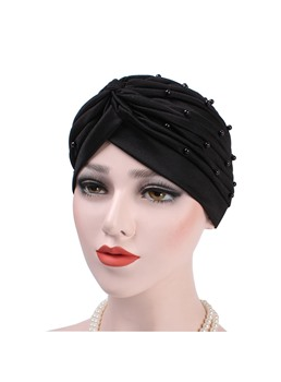 Beading Plain Turban For Women