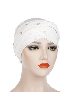 Simple Beads Knit Fashion Turban For Women