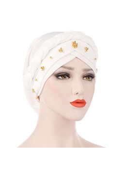 Simple Beads Fashion Turban For Women