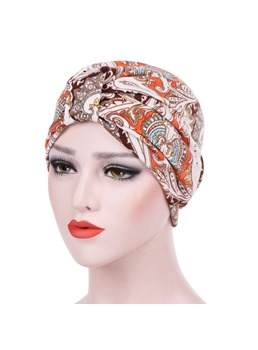 Printing Beading Turban For Women