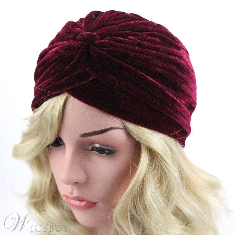 Colour Velvet Turban For Women