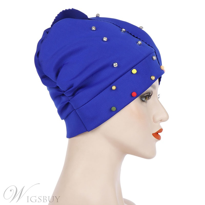 Colour Beads Fashion Turban For Women