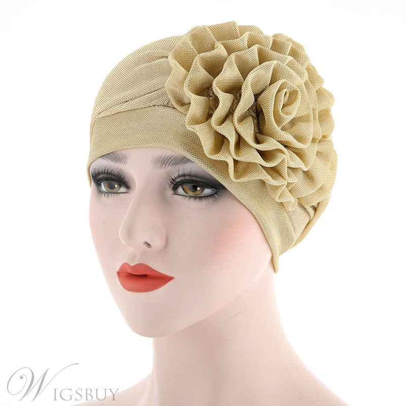 Side Flower Turban For Women