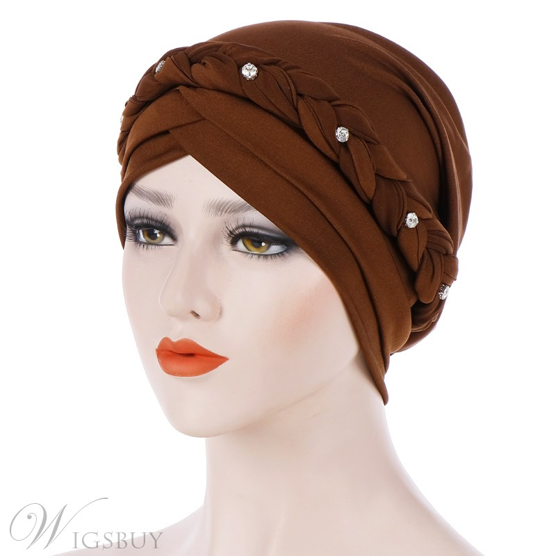 Rhinestone Pure Colour Turban For Women