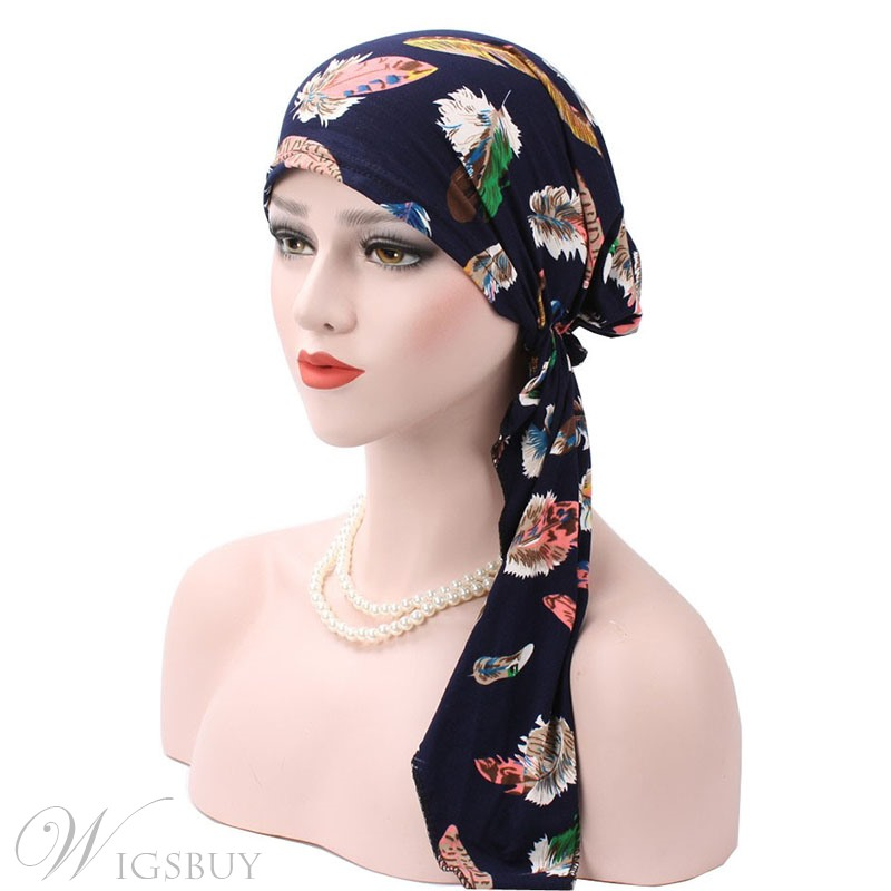 Floral Pattern CottonTurban For Women