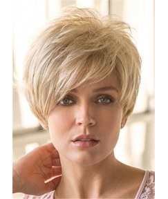 Pixie Cut Hairstyle Short Human Hair Straight Wig 10Inches