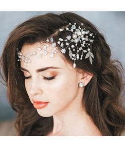 Fashion Lady/Women's Korean Style Floral Pattern Crystal Headband For Prom/Engagement/Anniversary/Wedding/Party/Birthday/Gift