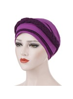 turbante de doble color para mujer