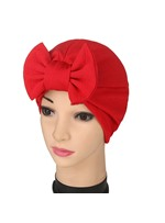 turban bowknot de couleur pure