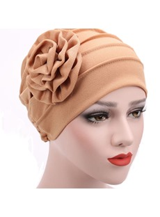 Pure Colour Women Flower Turban