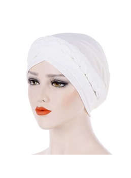 Pure Color Twist Simple Women Turban