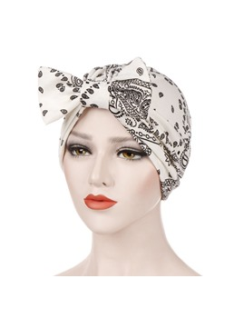 stampa turbante donna bowknot