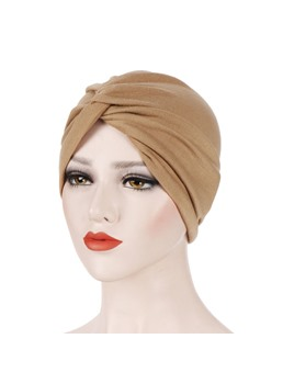 Pure Colour Soft Women Flower Turban