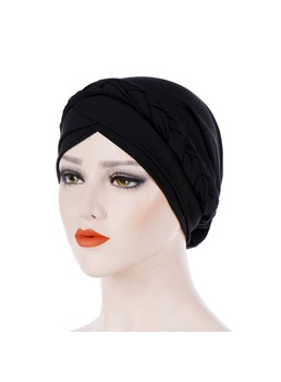 couleur pure twist simple femme turban