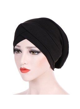 pure color twist simple turban für frauen