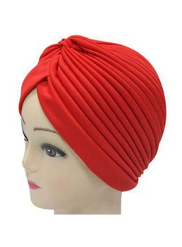 Pure Colour Muslim Soft Women Flower Turban