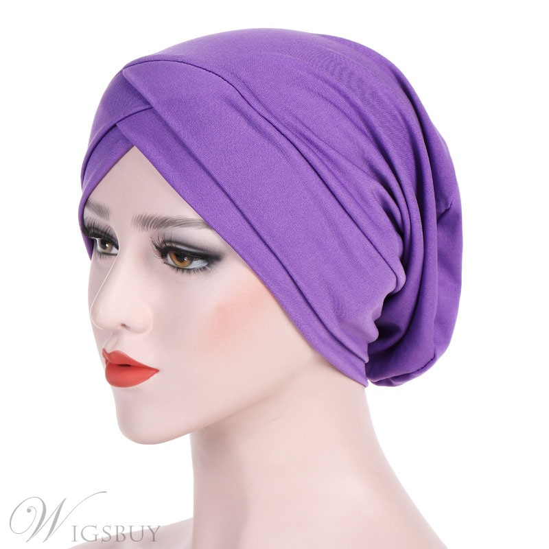 Pure Color Twist Simple Turban For Women