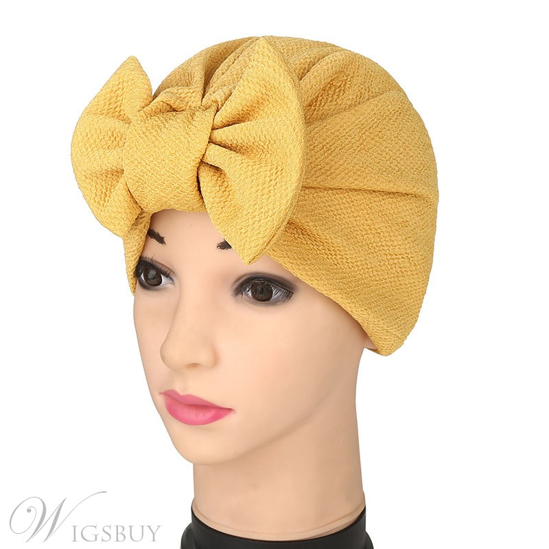 Pure Colour Bowknot Turban