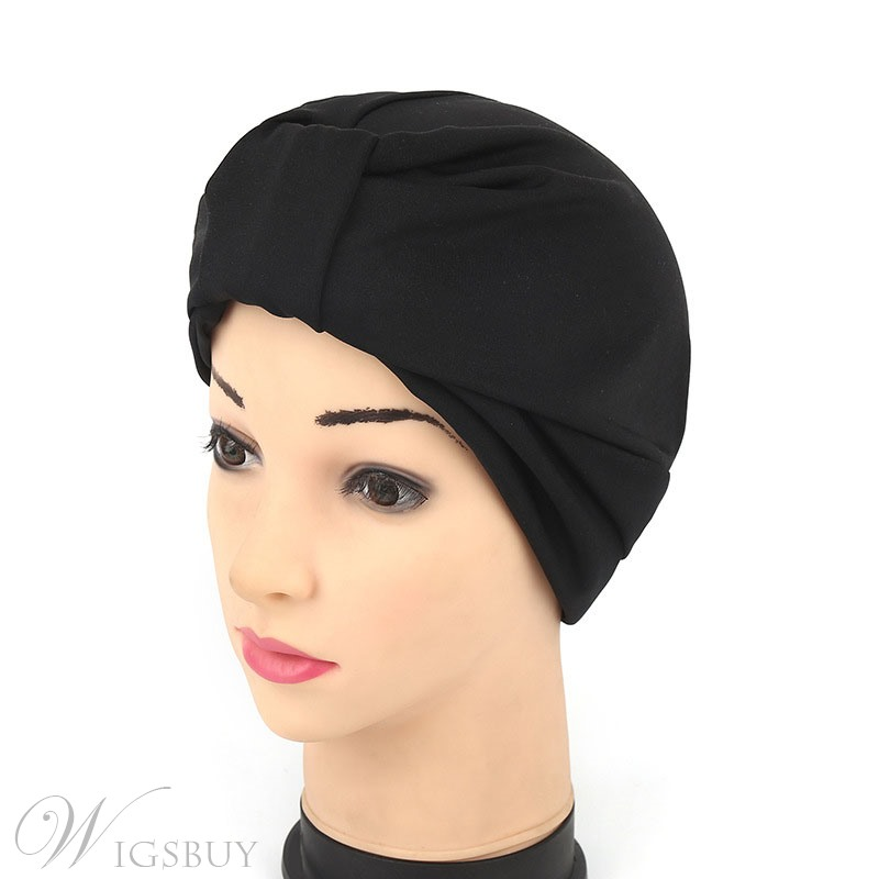 Pure Colour Turban Hat For Women