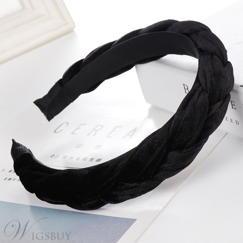 Velvet Knit Hair Band Pure Color Hair Accessories