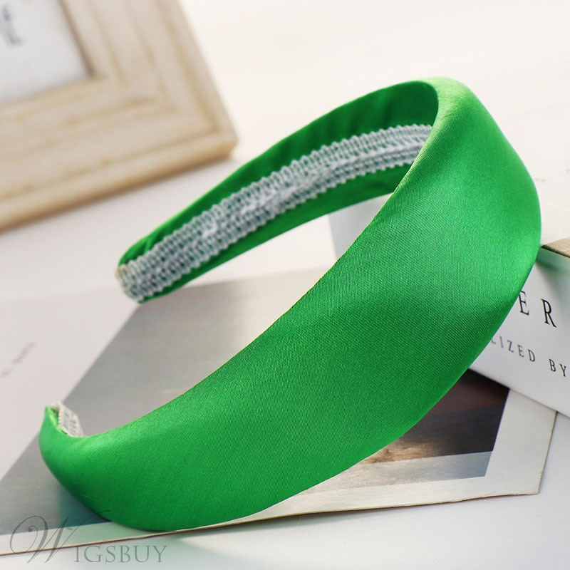 Satin Hair Band Pure Color Hair Accessories