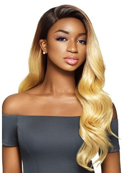 Women's Side Part Hairstyles Long Lenth Body Wave Synthetic Hair Capless Wigs 26Inch