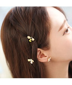 Korean Style Women lady Girls Animal Pattern Diamante Alloy Barrette For Prom/Engagement/Anniversary/Wedding/Party/Birthday/Gift