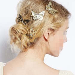 Wedding Women/Ladies European Style Alloy Butterfly Style Barrette Hairpin for Prom/Engagement/Anniversary/Wedding/Party/Birthday/Gift