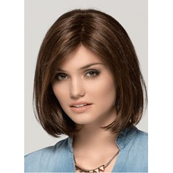 Bob Hairstyles Medium Length Women Natural Synthetic Hair Capless Wigs 14Inches