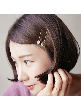 Women Alloy Leaf Flower Pearl Hair Clip Hairpin Barrette Bobby Pin Stick Jewelry Barrette For Prom/Engagement/Anniversary/Wedding/Party/Birthday/Gift