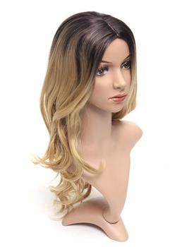 Long Ombre Wavy Synthetic Hair Women Wig 24 Inches