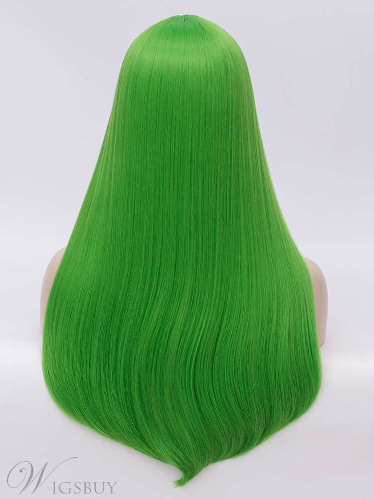Cosplay Wig Green Hair Synthetic Straight Wig 26 Inches