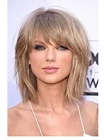 Taylor Swift Hairstyle Mediumn Straight Synthetic Hair Wig