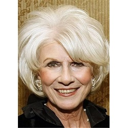 Bob Type Short Layered Human Hair Straight Wig For Older Women