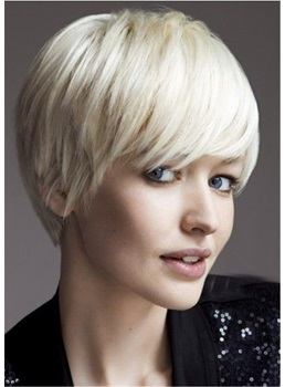 Short Cut Chopp Straight Human Hair Capless Wigs 10 Inches