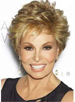 Pixie Choppy Cut Short Straight Human Hair Women Wigs 8 Inches