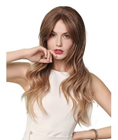 Sexy Women's Natural Wavy Hairstyles 130% Density Synthetic Hair Wigs Rose Net Capless Wigs 22Inches