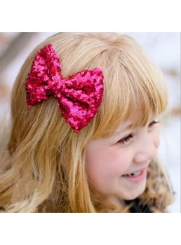 Vintage Girls Women Hairpin Hair Clamp Ribbon Large Bow Hair Clip Barrette 1PC